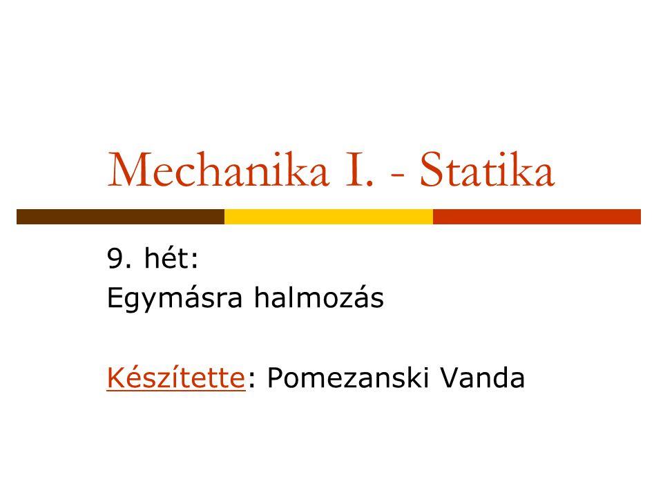 9. hét: Egymásra halmozás Készítette: Pomezanski Vanda