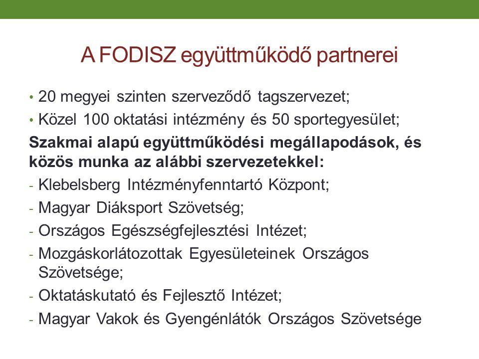 A FODISZ együttműködő partnerei