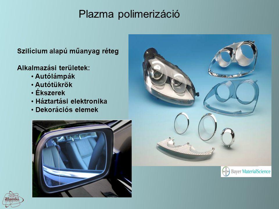 Plazma polimerizáció Szilícium alapú műanyag réteg