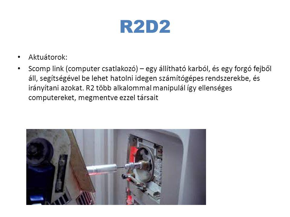 R2D2 Aktuátorok: