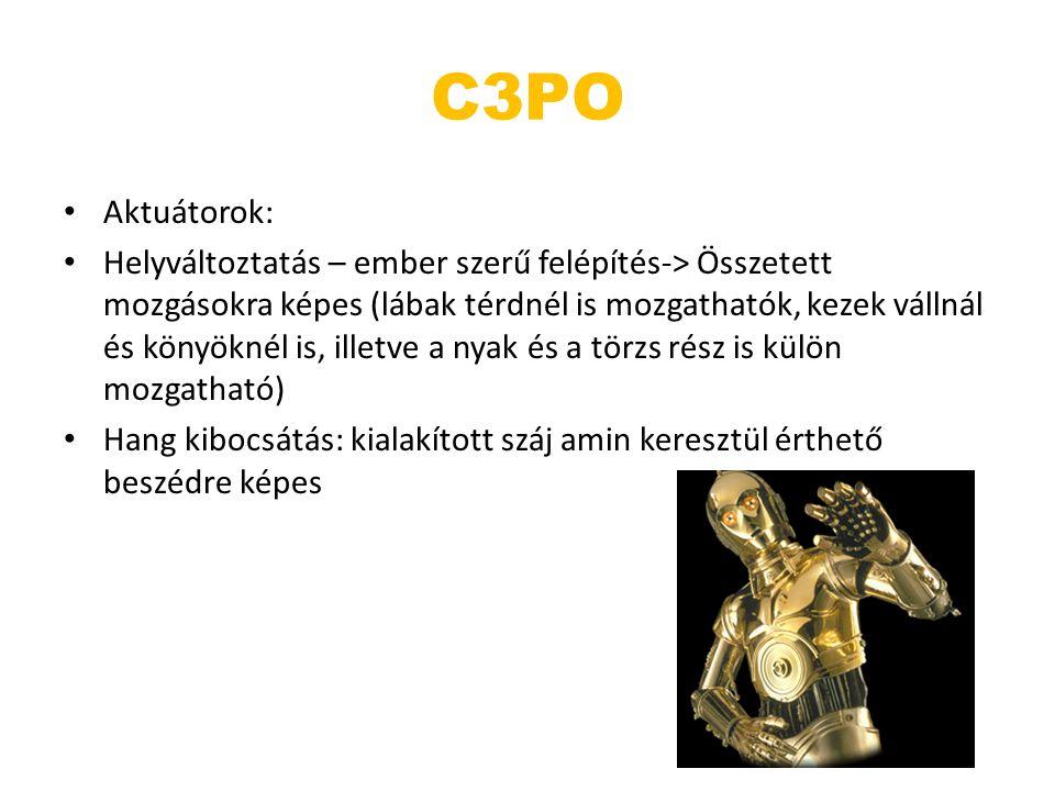 C3PO Aktuátorok: