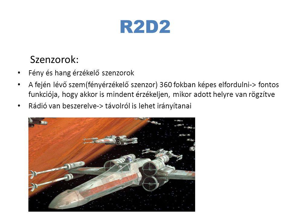 R2D2 Szenzorok: Fény és hang érzékelő szenzorok