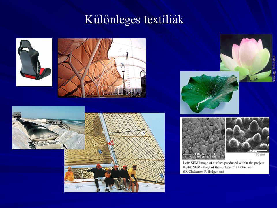Különleges textíliák NAGY TELJESÍTMÉNYŰ SZÁLAK