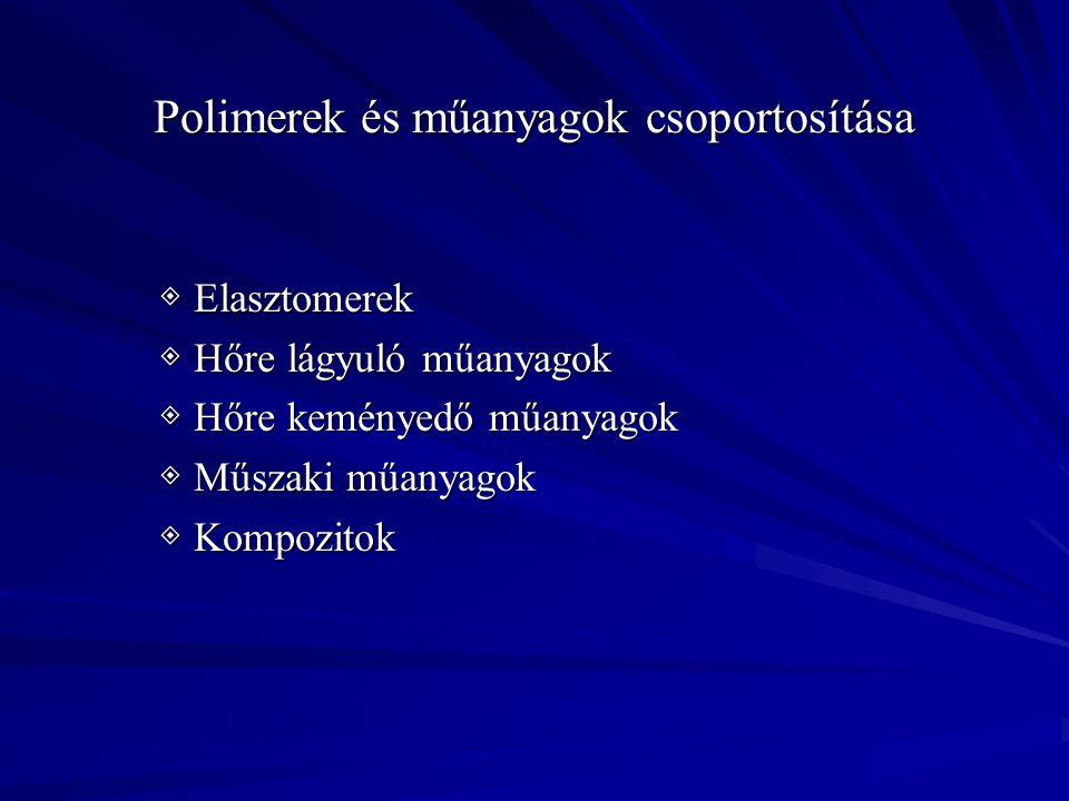 Polimerek és műanyagok csoportosítása