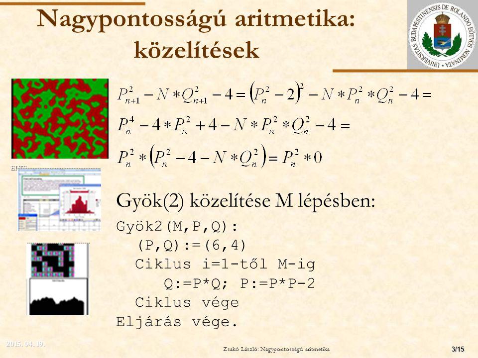 Nagypontosságú aritmetika: közelítések