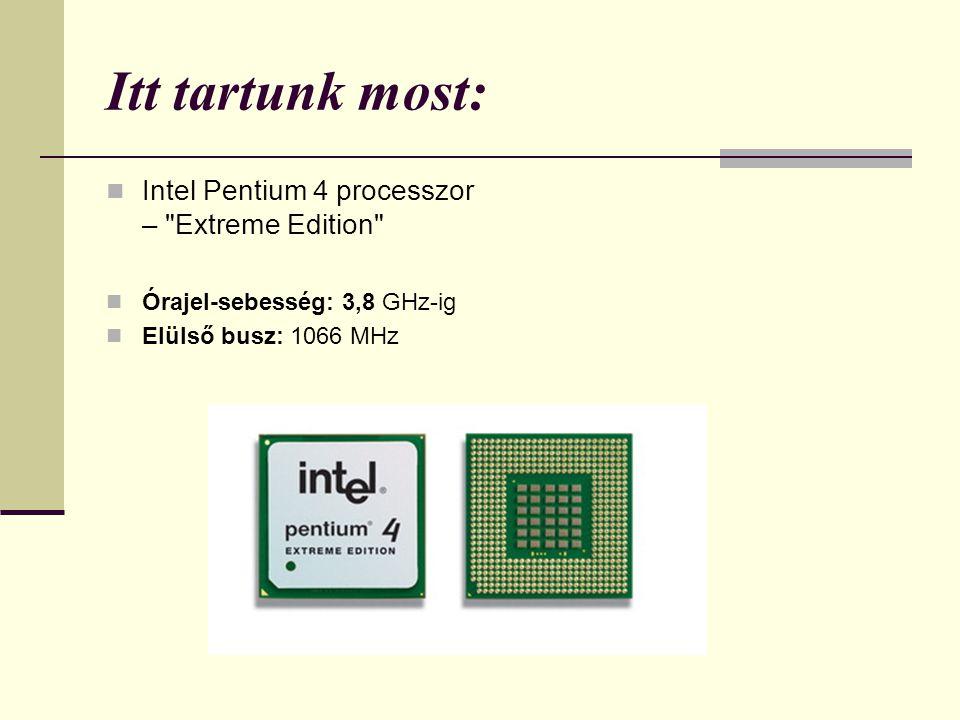 Itt tartunk most: Intel Pentium 4 processzor – Extreme Edition