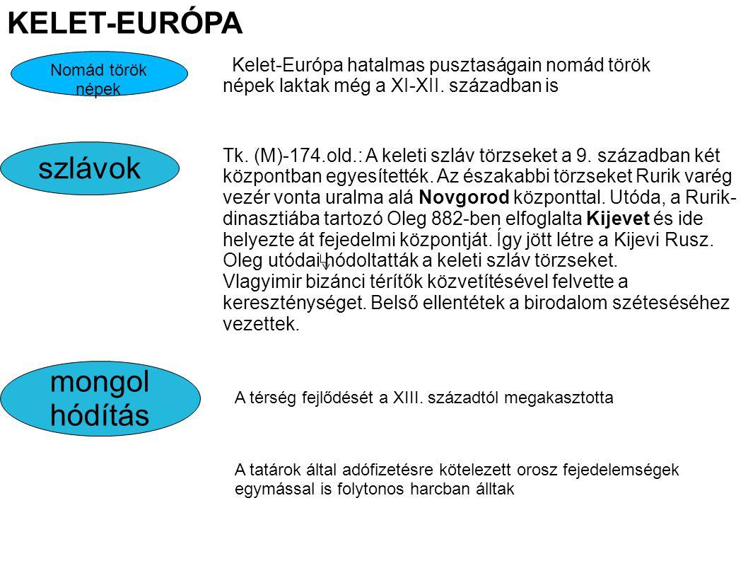 KELET-EURÓPA szlávok mongol hódítás
