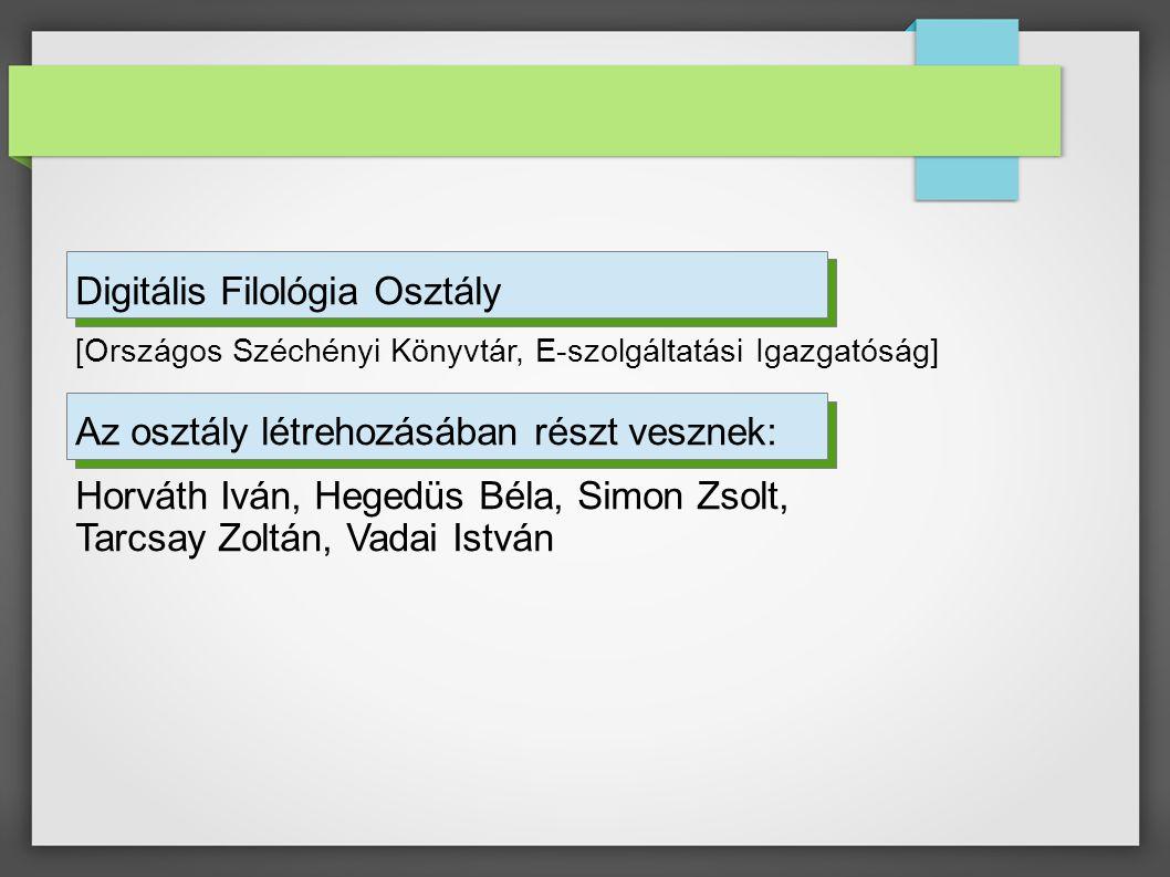 Digitális Filológia Osztály