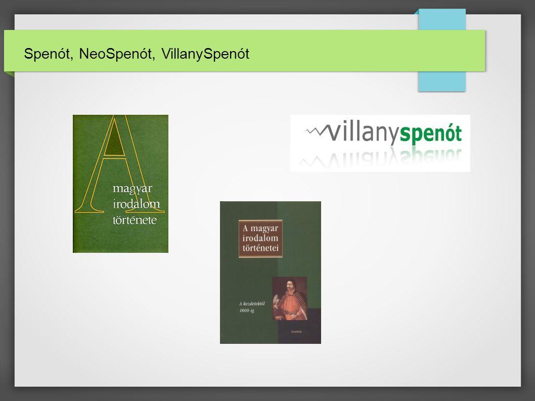 Spenót, NeoSpenót, VillanySpenót