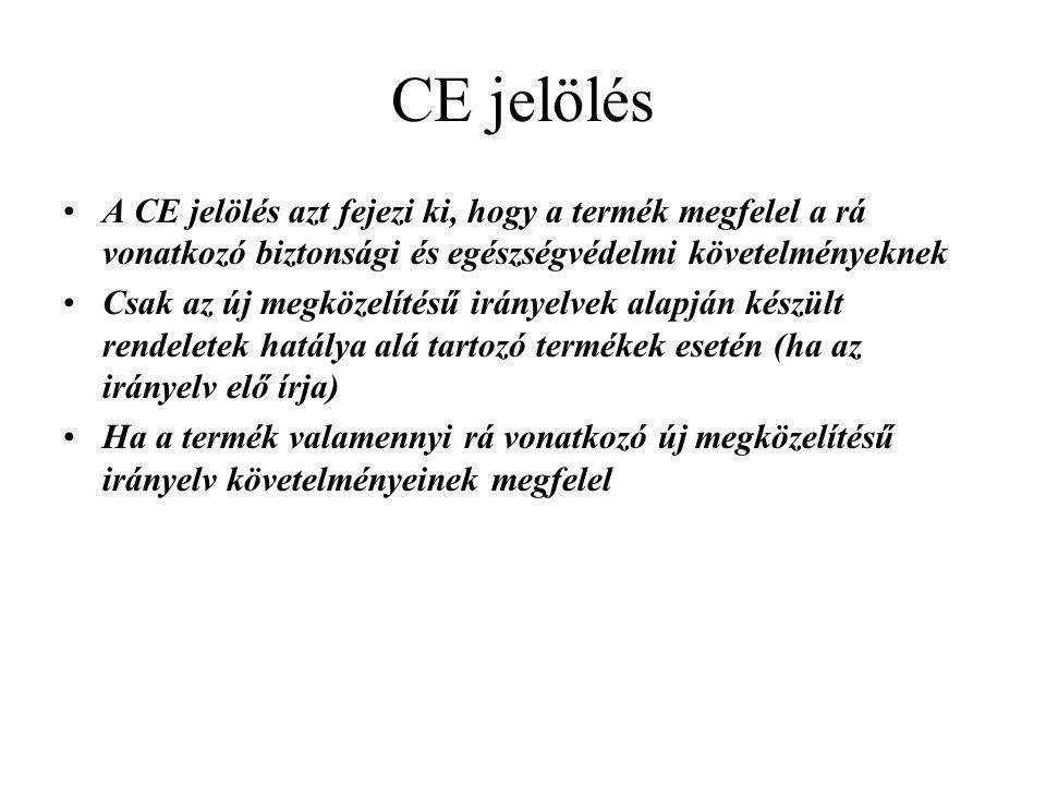 CE jelölés A CE jelölés azt fejezi ki, hogy a termék megfelel a rá vonatkozó biztonsági és egészségvédelmi követelményeknek.