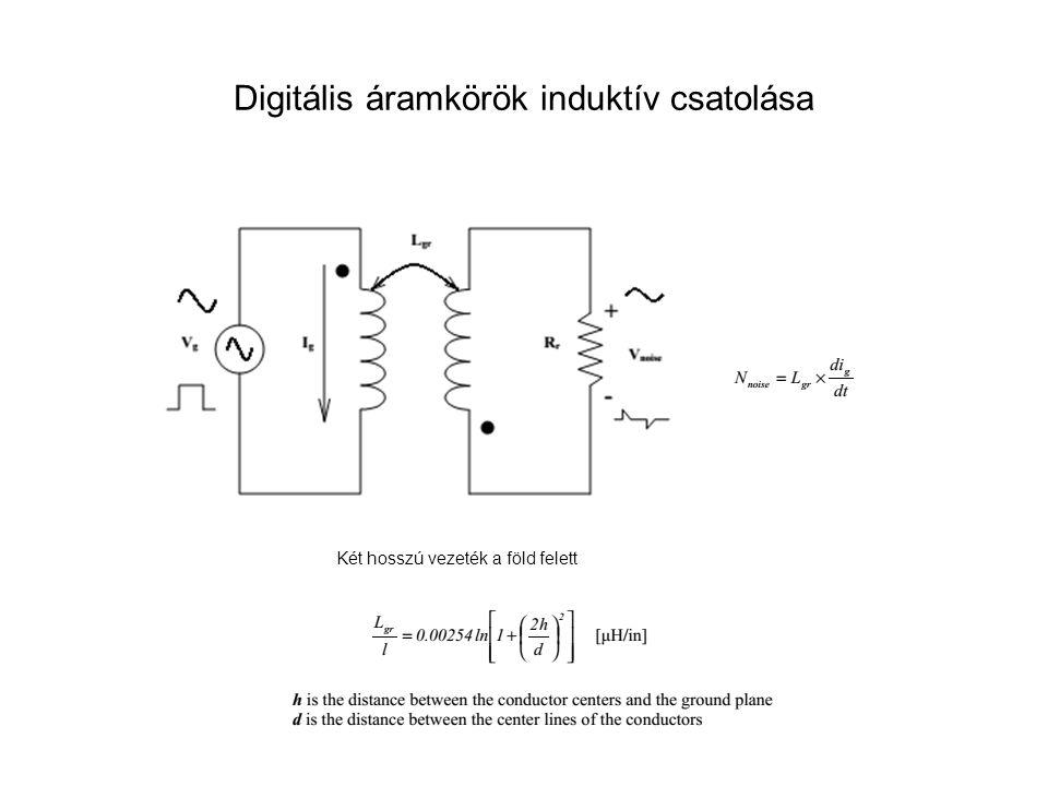 Digitális áramkörök induktív csatolása
