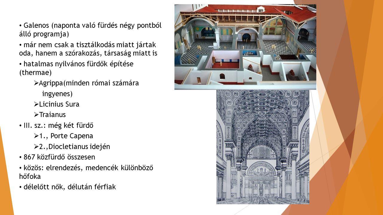 Galenos (naponta való fürdés négy pontból álló programja)