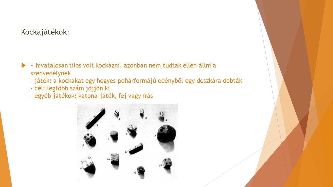 Kockajátékok: