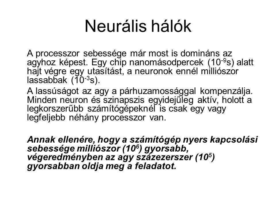 Neurális hálók