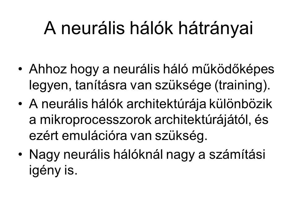 A neurális hálók hátrányai