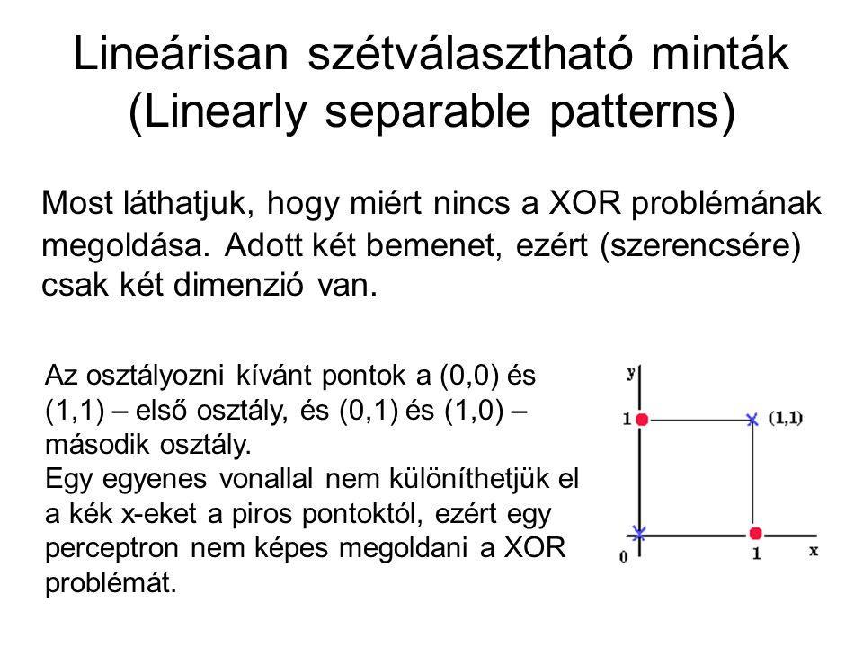 Lineárisan szétválasztható minták (Linearly separable patterns)