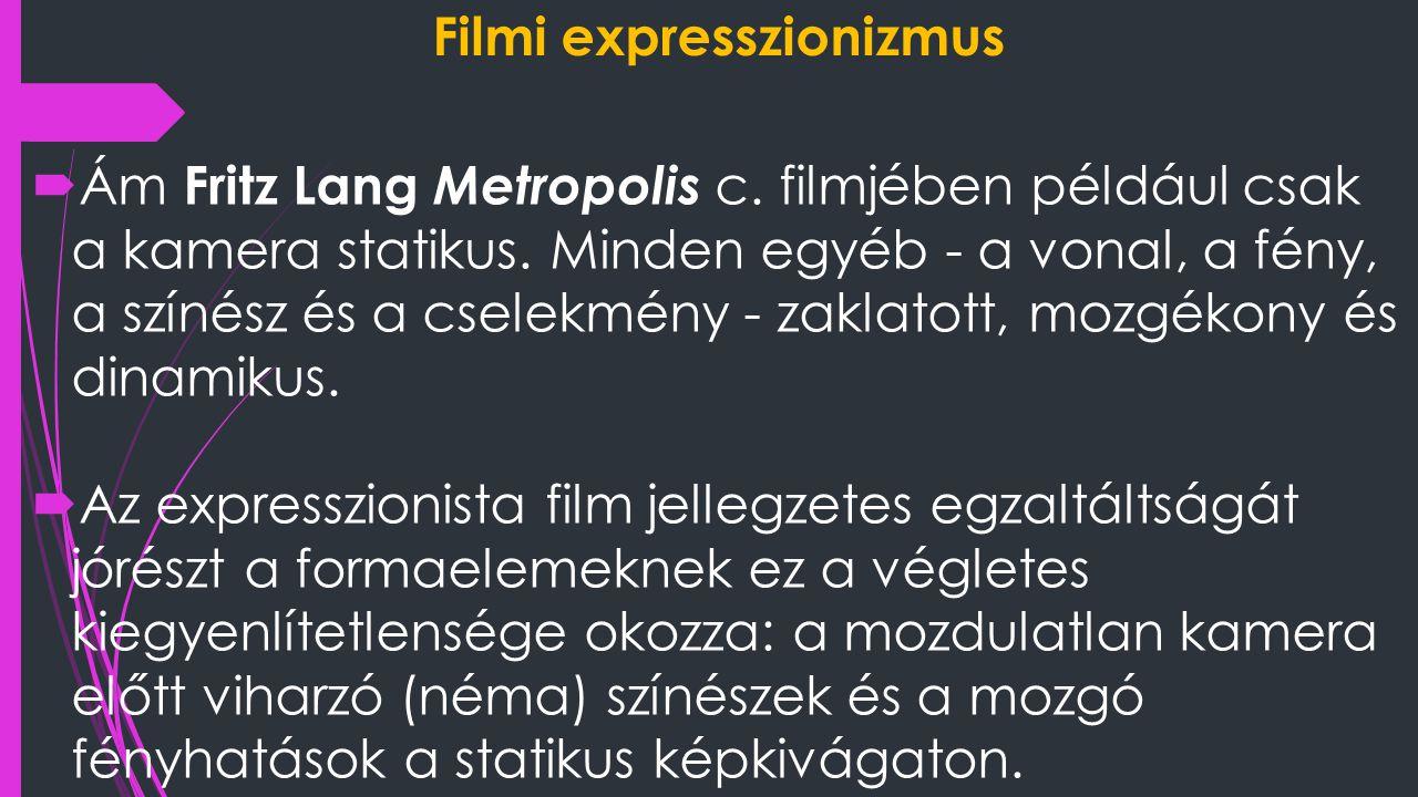 Filmi expresszionizmus