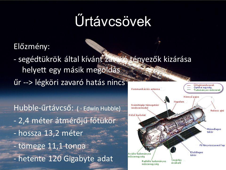 Űrtávcsövek Előzmény: