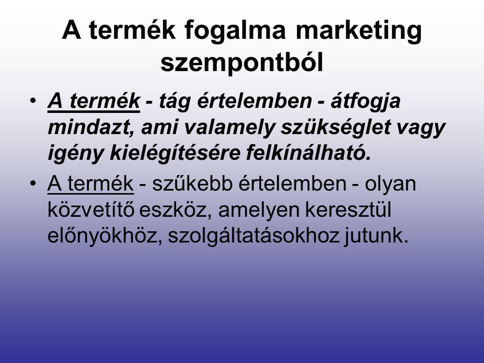 A termék fogalma marketing szempontból