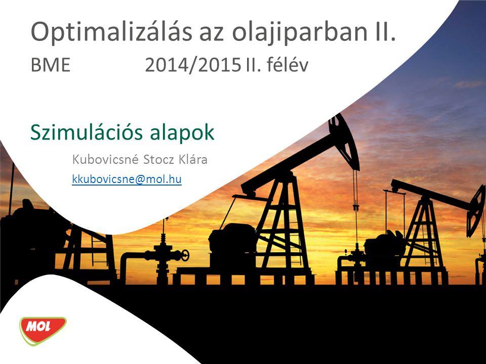 Optimalizálás az olajiparban II.