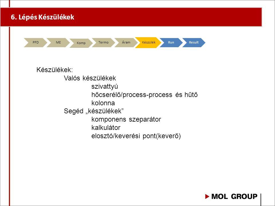 6. Lépés Készülékek Készülékek: Valós készülékek szivattyú