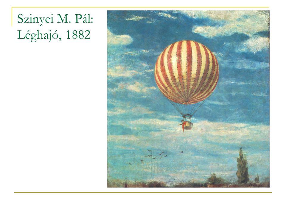 Szinyei M. Pál: Léghajó, 1882