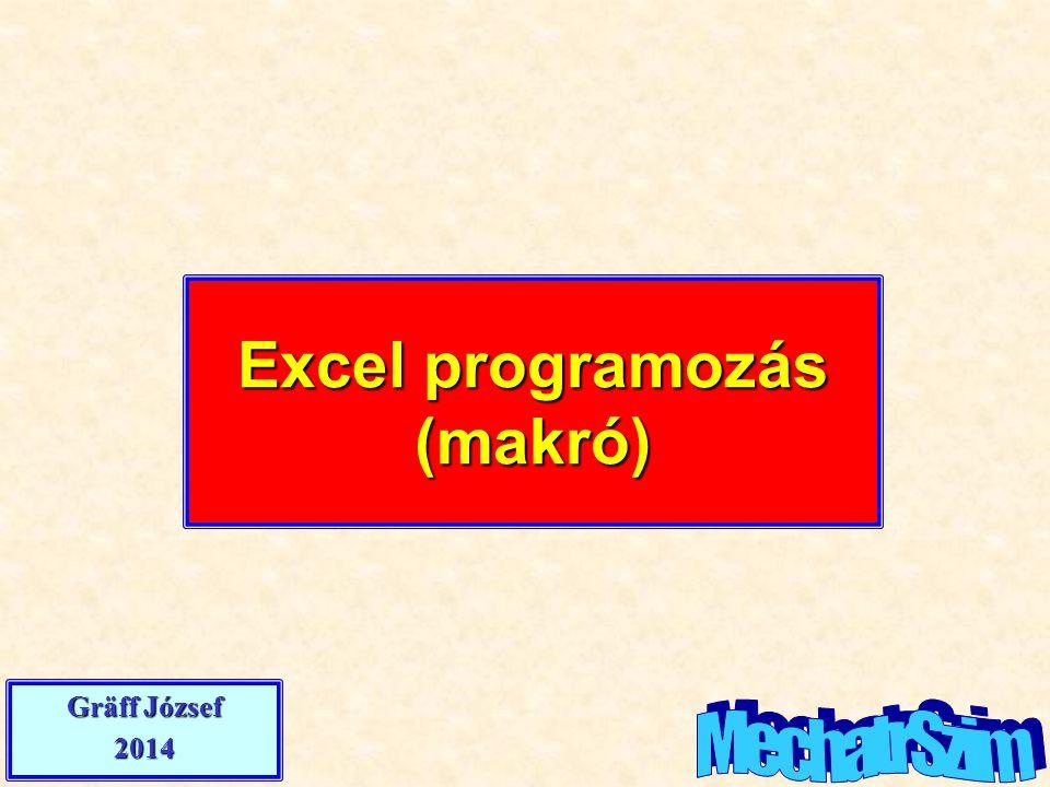 Excel programozás (makró)