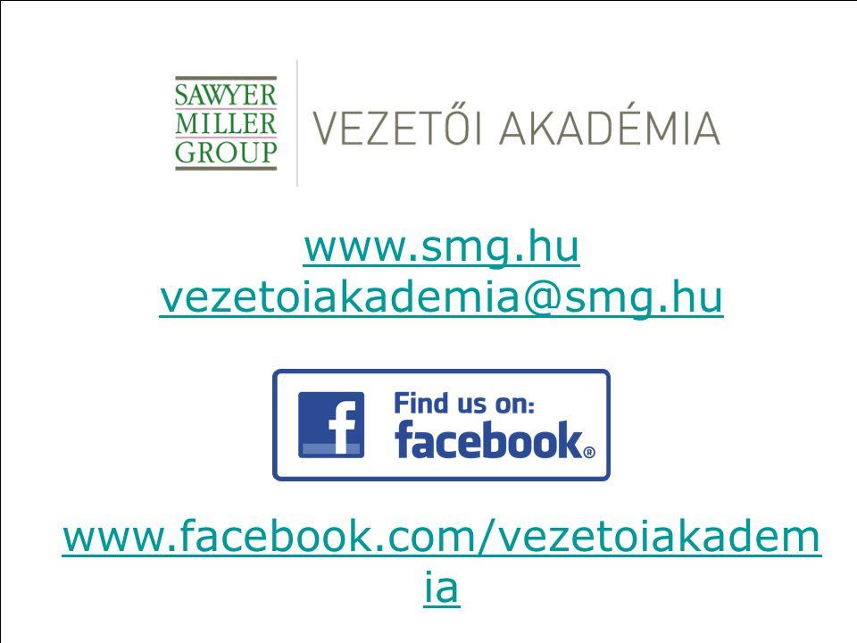 www.smg.hu vezetoiakademia@smg.hu www.facebook.com/vezetoiakademia