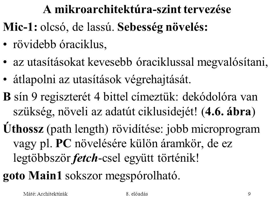 A mikroarchitektúra-szint tervezése