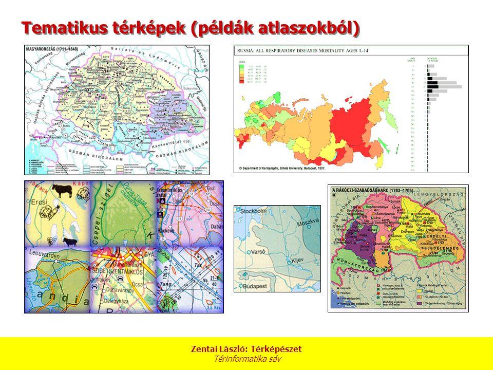 Tematikus térképek (példák atlaszokból)
