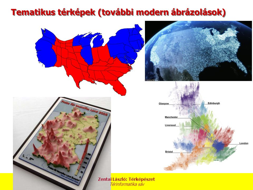 Tematikus térképek (további modern ábrázolások)
