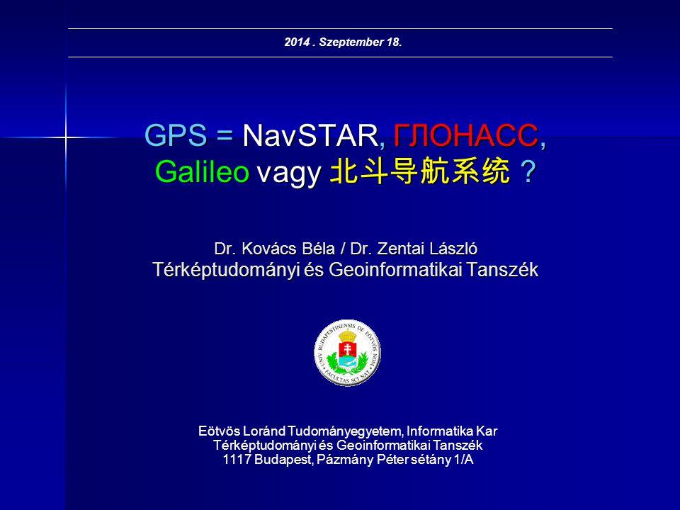 GPS = NavSTAR, ГЛОНАСС, Galileo vagy 北斗导航系统