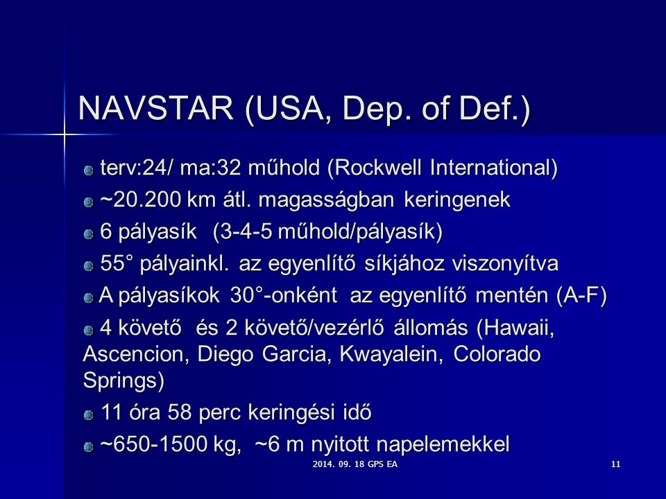 NAVSTAR (USA, Dep. of Def.)