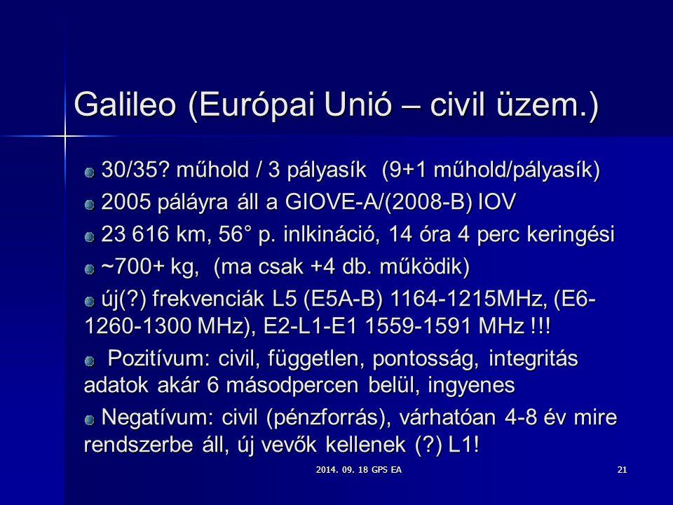 Galileo (Európai Unió – civil üzem.)
