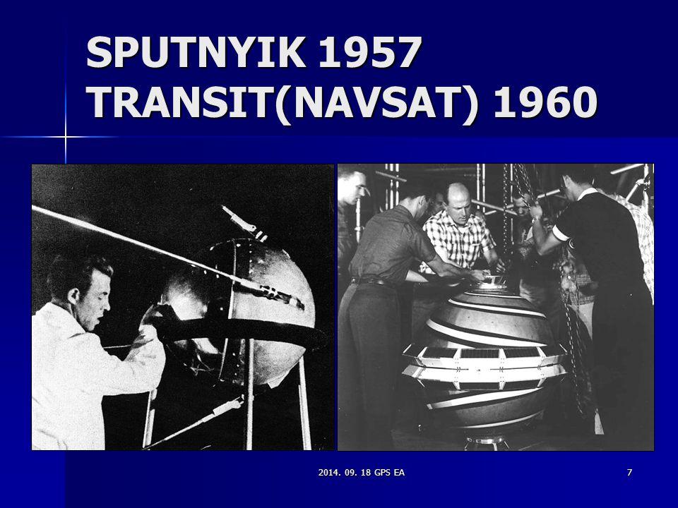 SPUTNYIK 1957 TRANSIT(NAVSAT) 1960