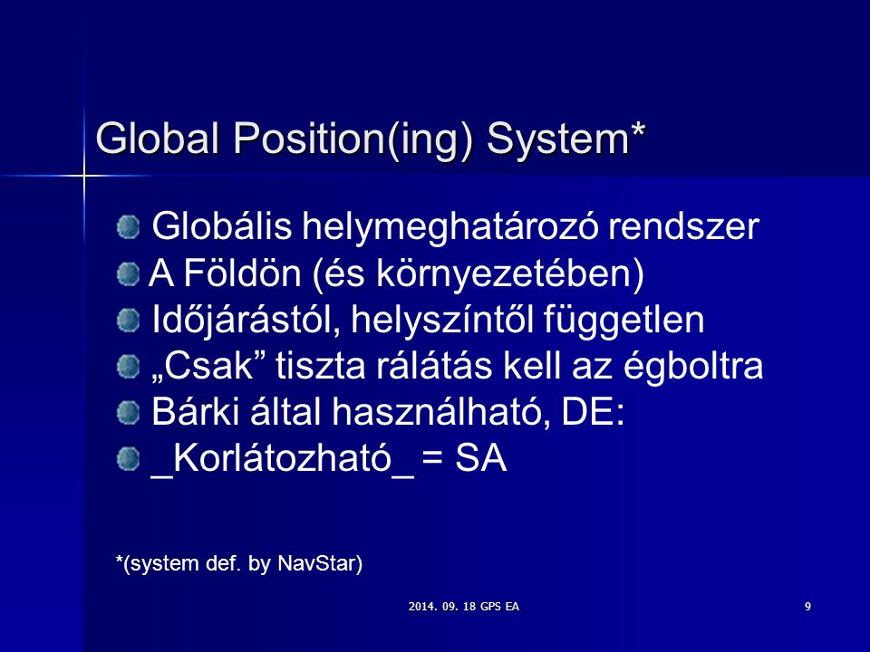 Global Position(ing) System*
