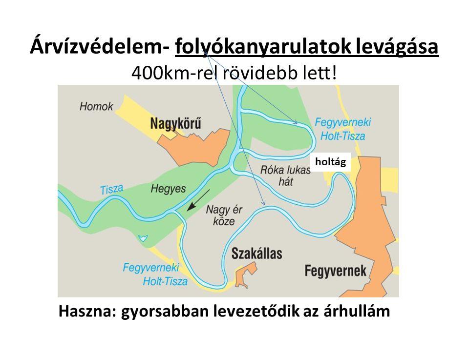 Árvízvédelem- folyókanyarulatok levágása 400km-rel rövidebb lett!