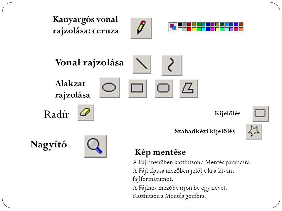 Radír Vonal rajzolása Nagyító Kanyargós vonal rajzolása: ceruza