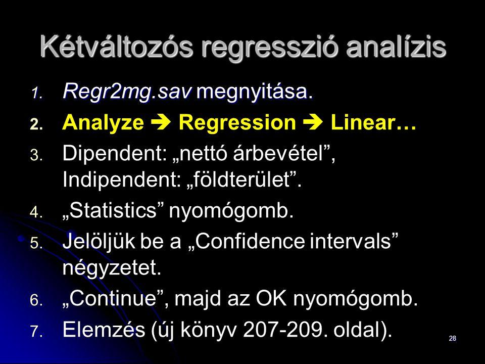 Kétváltozós regresszió analízis
