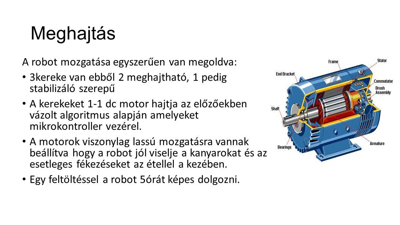 Meghajtás A robot mozgatása egyszerűen van megoldva: