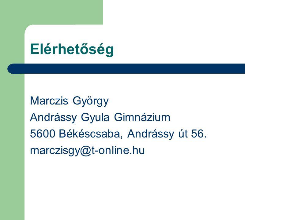 Elérhetőség Marczis György Andrássy Gyula Gimnázium