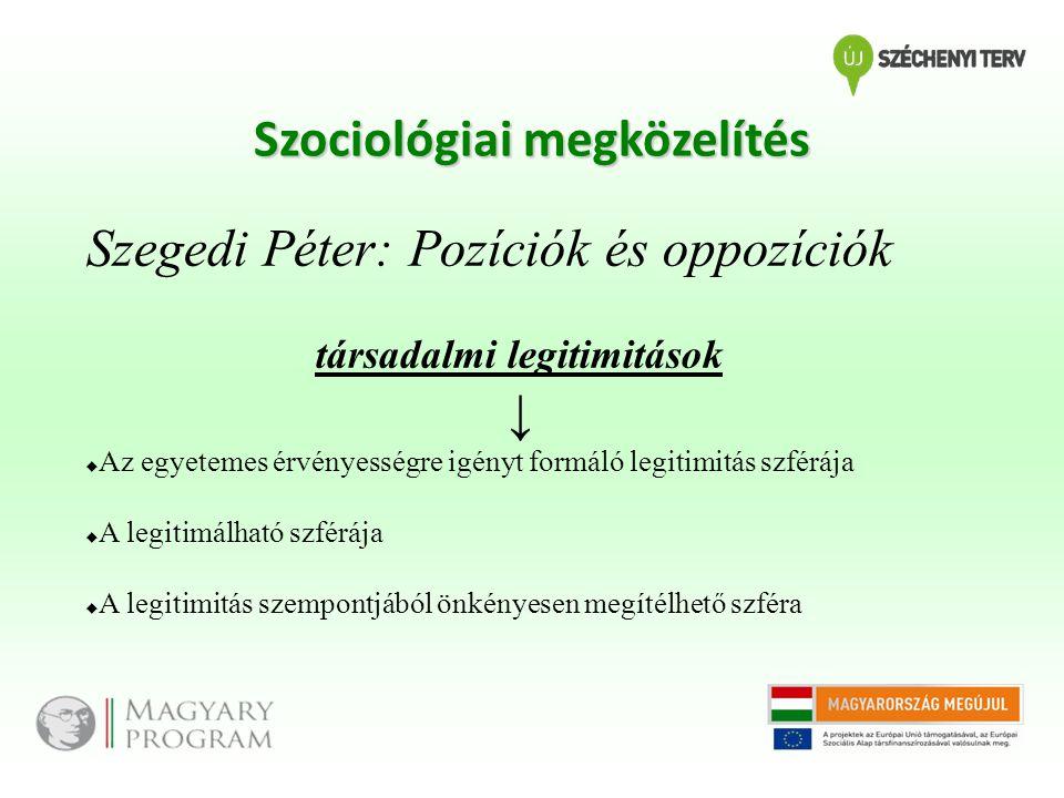 Szociológiai megközelítés társadalmi legitimitások
