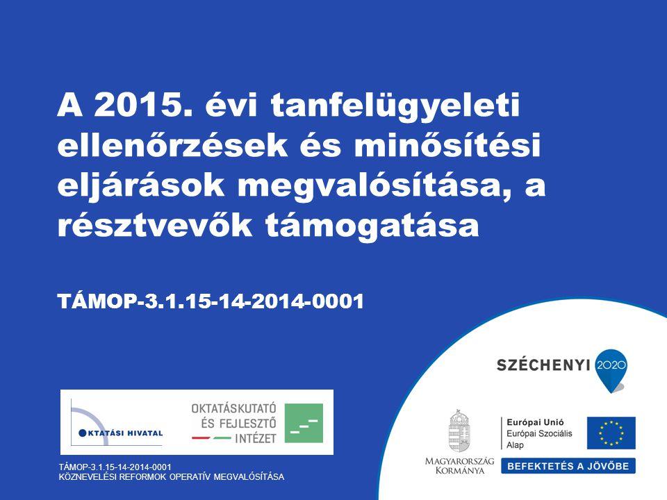 TÁMOP-3.1.15-14-2014-0001 KÖZNEVELÉSI REFORMOK OPERATÍV MEGVALÓSÍTÁSA