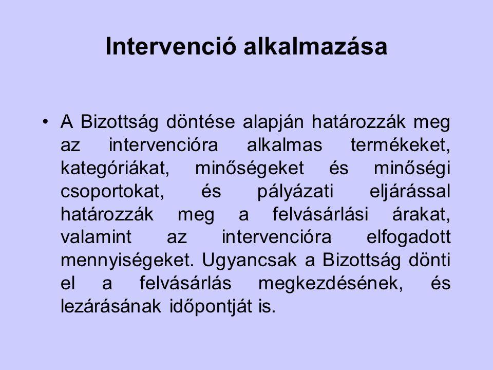 Intervenció alkalmazása