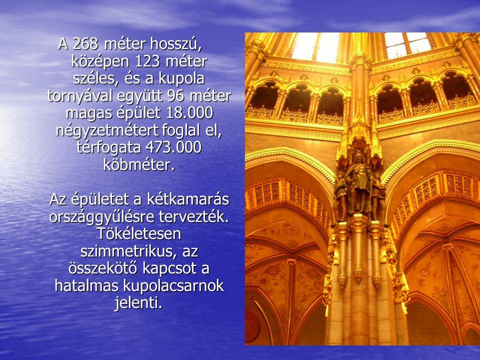 A 268 méter hosszú, középen 123 méter széles, és a kupola tornyával együtt 96 méter magas épület 18.000 négyzetmétert foglal el, térfogata 473.000 köbméter.