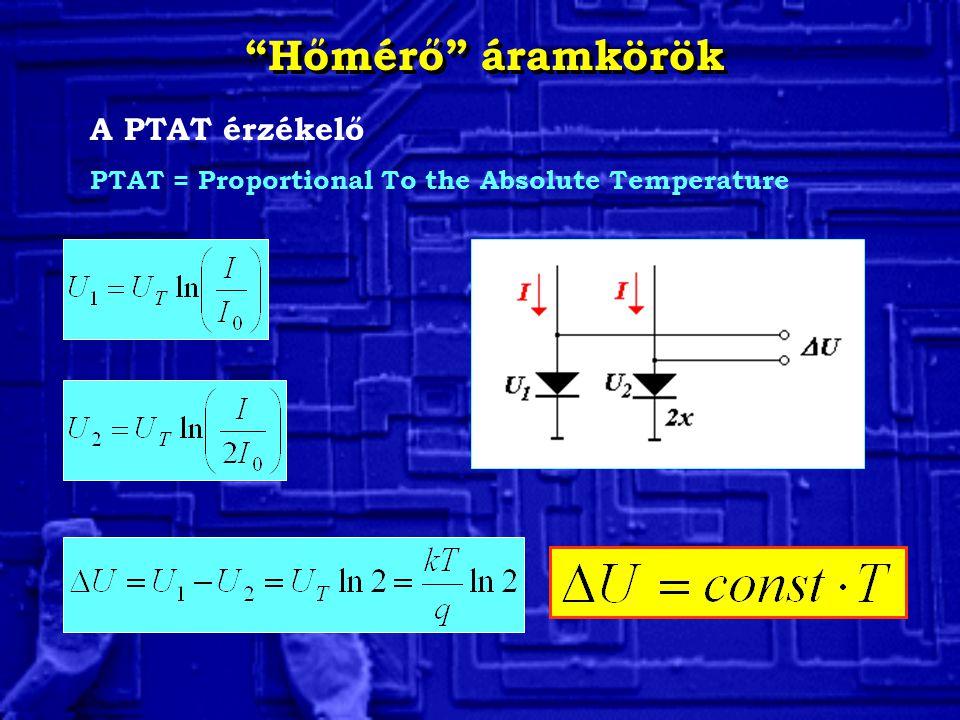 Hőmérő áramkörök A PTAT érzékelő