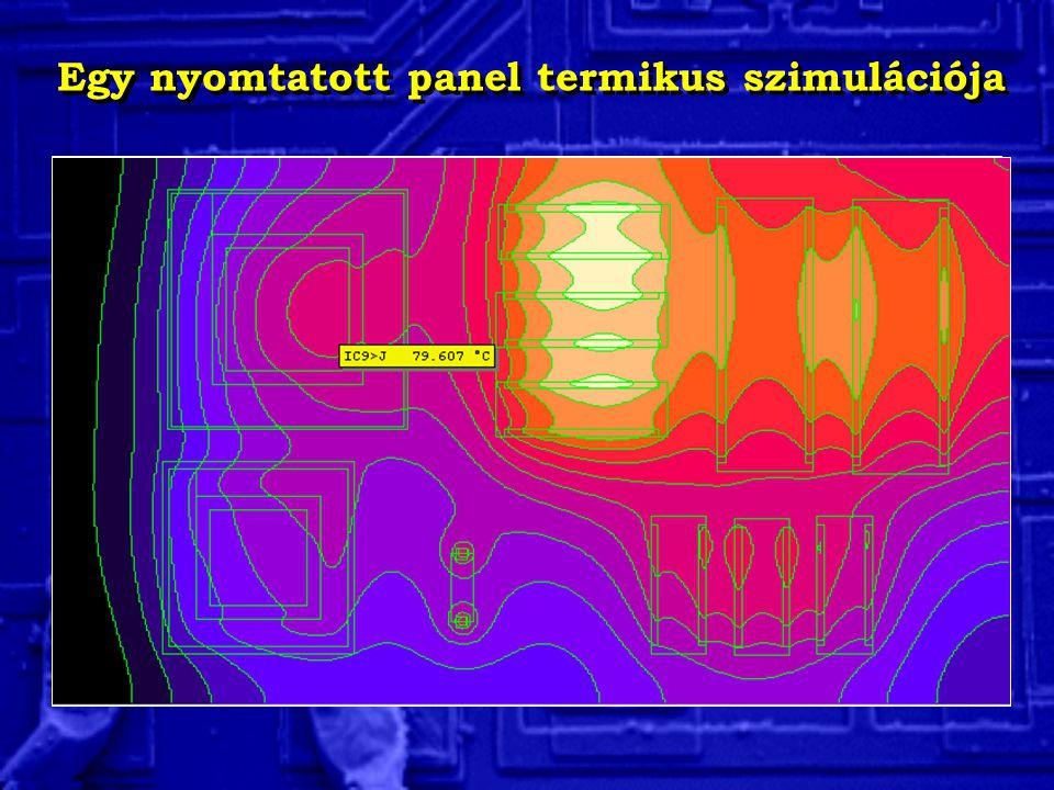 Egy nyomtatott panel termikus szimulációja