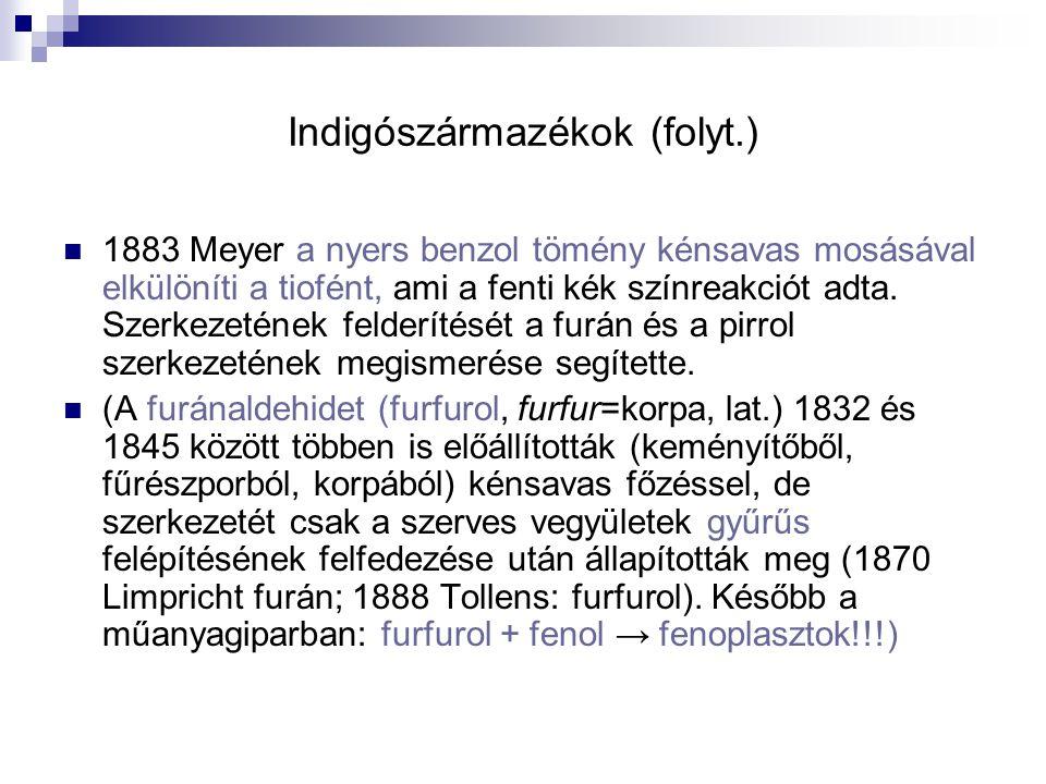 Indigószármazékok (folyt.)
