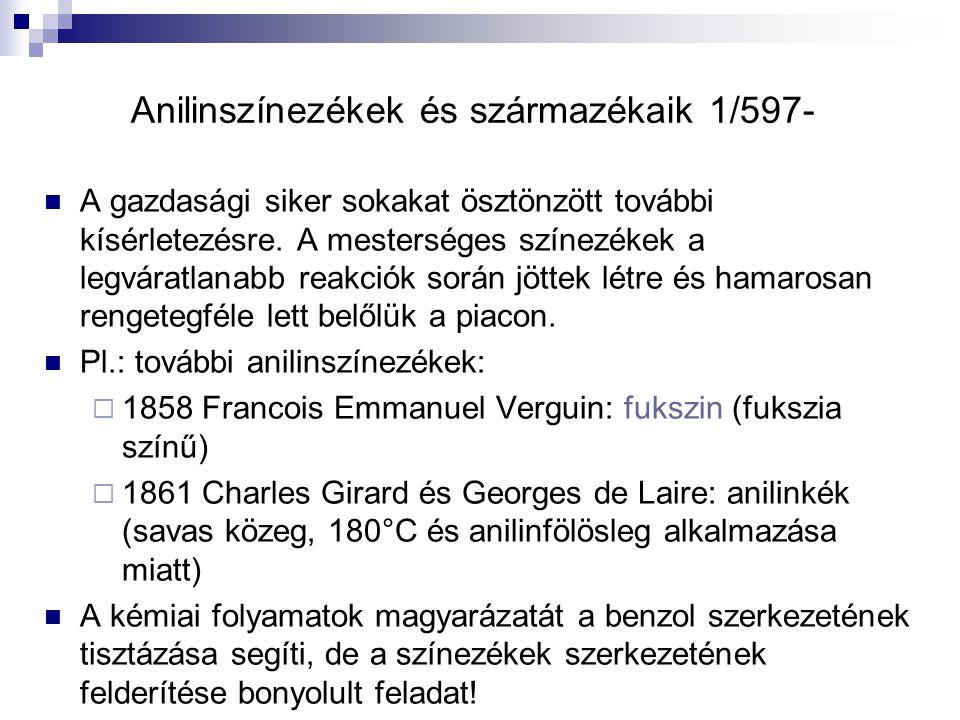 Anilinszínezékek és származékaik 1/597-
