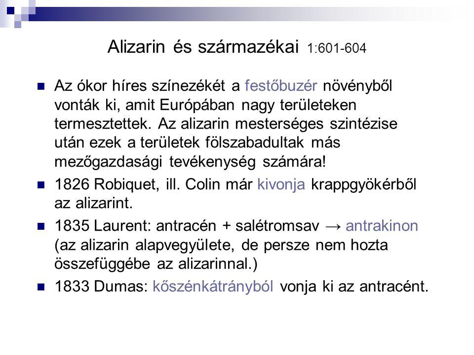 Alizarin és származékai 1:601-604